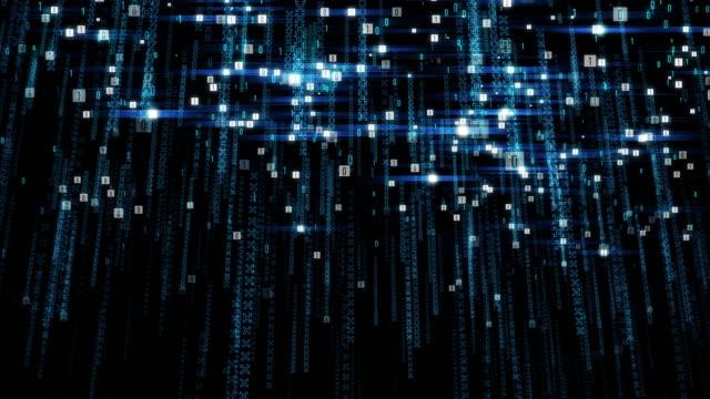 binary fall - byte stock videos & royalty-free footage