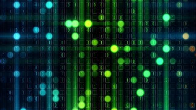 binäre raster - hell beleuchtet stock-videos und b-roll-filmmaterial