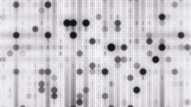 binäre raster - binärcode stock-videos und b-roll-filmmaterial