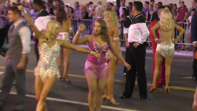 bindi irwin lindsay arnold filming dancing with the starsflash mobon hollywood blvd in hollywood on september 10 2015 in los angeles california - flash mob stock videos and b-roll footage