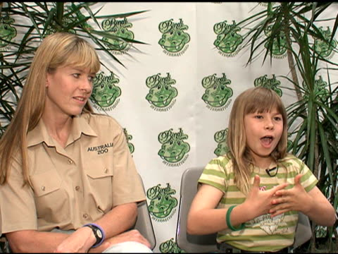 Bindi Irwin on wanting to get the message of wildlife conservation out to the world at the Bindi Wear International Launch at NULL in Las Vegas...