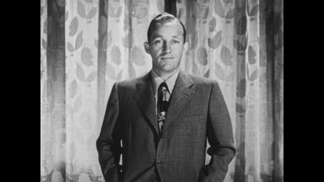 stockvideo's en b-roll-footage met bing crosby complains about his place in the line up - bing crosby