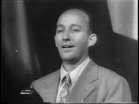 bing crosby onstage telling jokes. - comedian stock videos & royalty-free footage