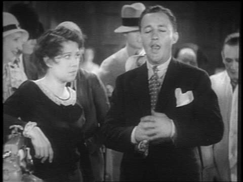bing crosby standing with woman singing / short - 1931 stock videos & royalty-free footage