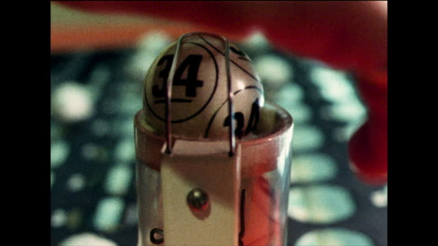 bingo being played in a hall; 1978 - lottery stock videos & royalty-free footage