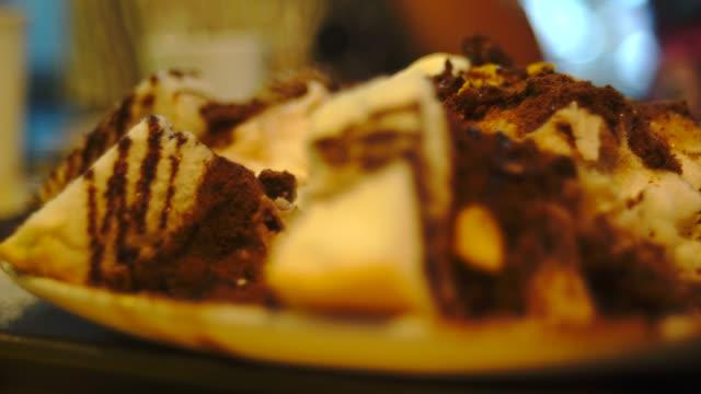 bingsu chocolate volcano - dairy product stock videos & royalty-free footage