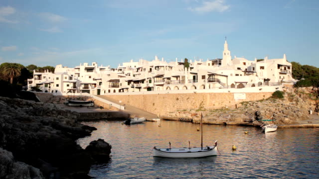 binibequer vell at sunset - minorca stock videos & royalty-free footage