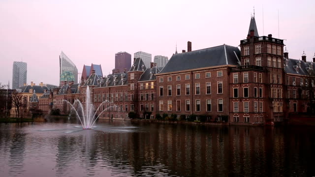 hd: binnenhof, house of parliament, hague netherlands - government stock videos and b-roll footage