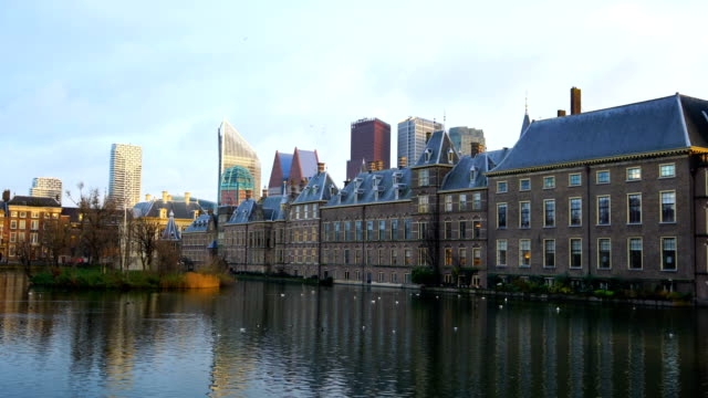 binnenhof (dutch parliament), the hague, netherlands - politics stock videos & royalty-free footage