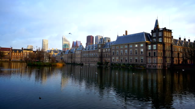 binnenhof (dutch parliament), the hague, netherlands - panoramic stock videos & royalty-free footage
