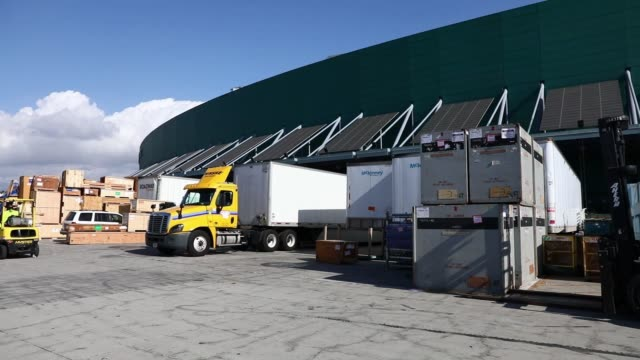bins are sorted at an amazon fulfillment center in robbinsville new jersey monday november 27 2017 photographer victor j blue – shots shot of yellow... - motor show stock videos and b-roll footage
