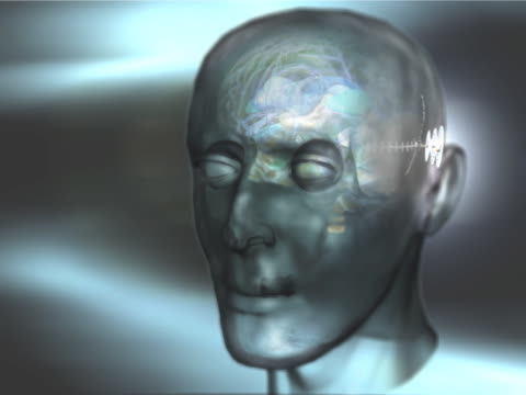 bio tech human head - unknown gender stock videos & royalty-free footage