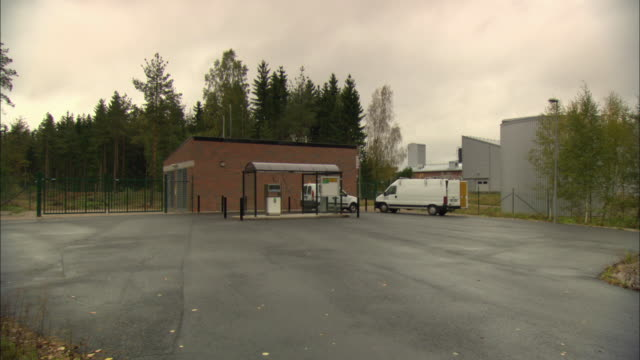 ws bio-gas station in parking lot / vaxjo, sweden - vaxjo stock videos & royalty-free footage