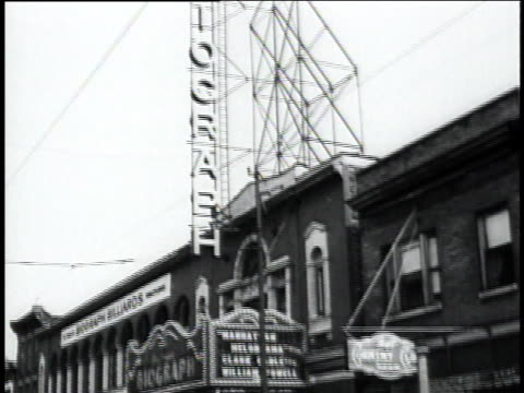 vidéos et rushes de biograph theater / chicago illinois united states - 1934