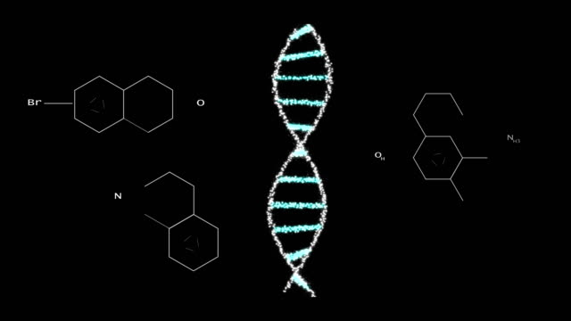 biological engineering gene modification gmo genetically modified organism. design dna concept. dark background - chromosome stock videos & royalty-free footage