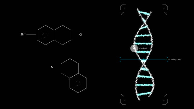 biological engineering gene modification gmo genetically modified organism. design dna concept. dark background - formula stock videos & royalty-free footage