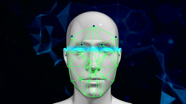 biometric facial recognition technology scanning face - human face abstract stock videos & royalty-free footage