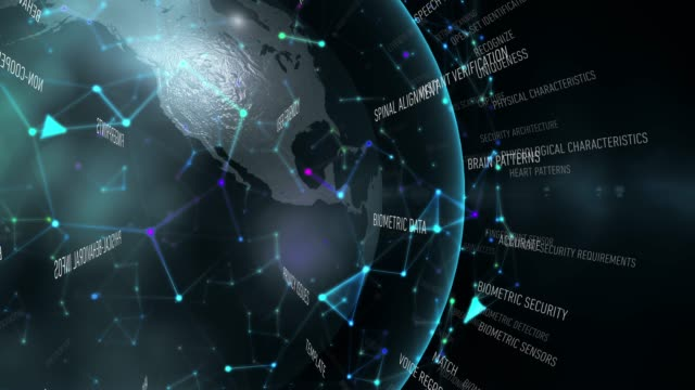 vídeos de stock e filmes b-roll de biometric security terms - retina