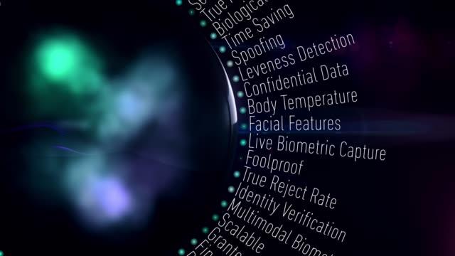 termini di sicurezza biometrica - impronta digitale video stock e b–roll