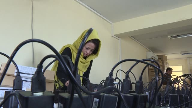 biometric verification machines will be used for the first time in the afghan election - verification stock videos & royalty-free footage