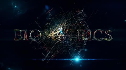 biometrics cube - eyesight stock videos & royalty-free footage