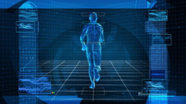 Bionic 3D Man Running (HD Loop)