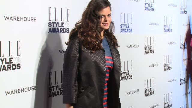 bip ling at elle style awards arrivals at one embankment on february 18 2014 in london england - embankment stock videos and b-roll footage