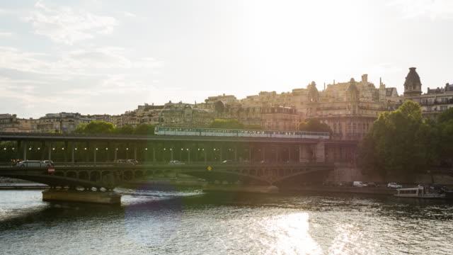 Bir Hakeim bridge across Seine river in Paris