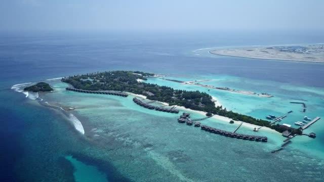 bird eyes view of maldives - maldives stock videos & royalty-free footage