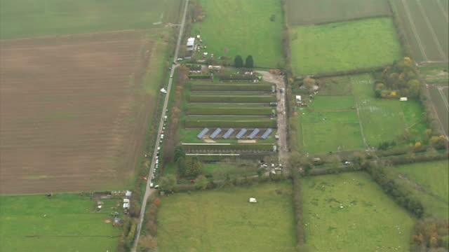 bird flu outbreak at yorkshire duck farm air view / aerial nafferton duck farm - avian flu virus stock videos and b-roll footage