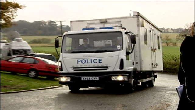 bird flu outbreak on suffolk farm confimed as deadly h5n1 strain; england: east anglia: suffolk: redgrave: ext police van arriving at farm - east anglia stock videos & royalty-free footage