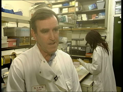 bird flu threat; itn england: int cms alan hay interview sot - avian flu virus stock videos & royalty-free footage
