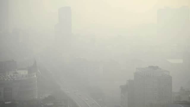 bird view at chengdu china - smog stock videos & royalty-free footage