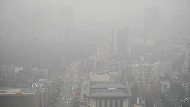 bird view at chengdu china - air pollution stock videos & royalty-free footage