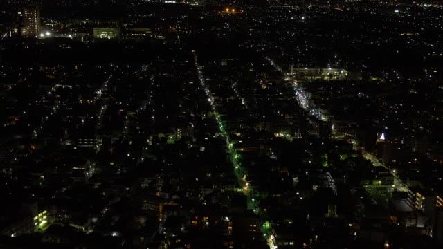 Bird view at night