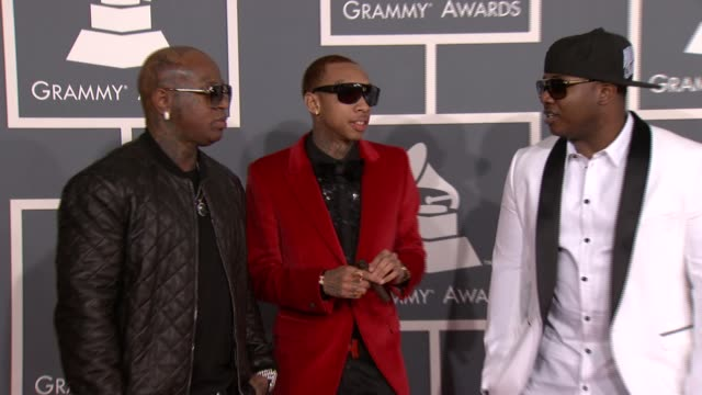 Birdman Tyga Mack Maine at 54th Annual GRAMMY Awards Arrivals on 2/12/12 in Los Angeles CA
