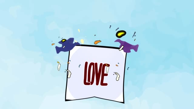 birds carrying messages | love - falling in love stock videos & royalty-free footage