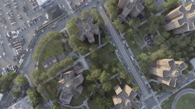 birds eye view of brooklyn projects - 公営アパート点の映像素材/bロール