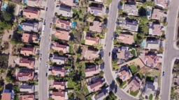 Birds Eye View of California Suburban Sprawl