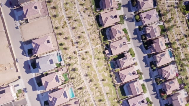 birds eye view of california suburban street - santa clarita stock videos & royalty-free footage