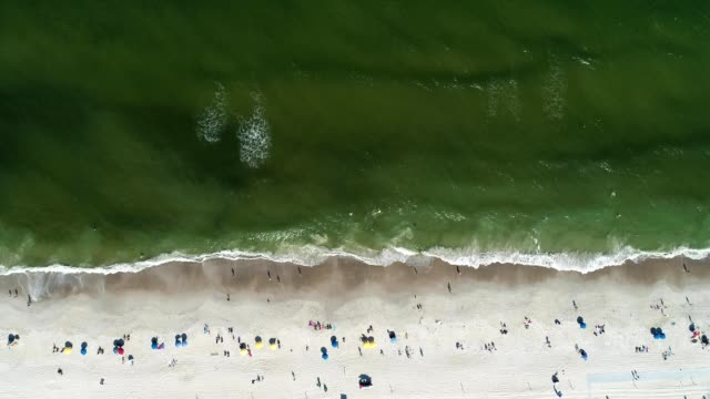 birds eye view of carolina beach, north carolina - carolina beach stock videos and b-roll footage