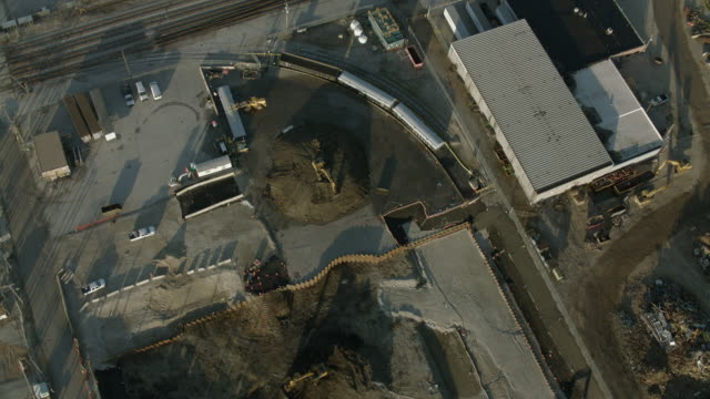 birds eye view of chemical plant - railway track stock videos & royalty-free footage