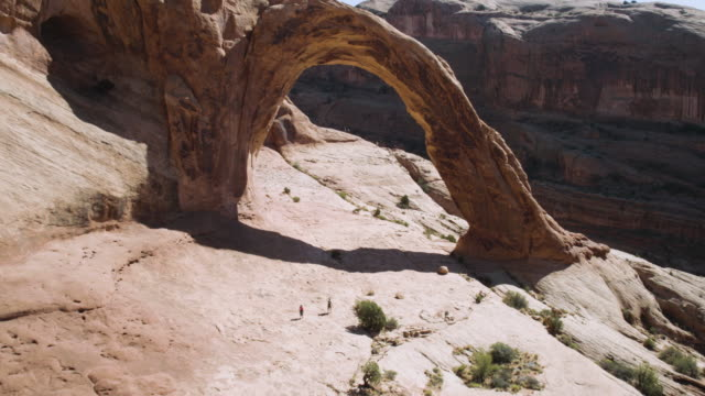 birds eye view of corona arch - arch stock videos & royalty-free footage