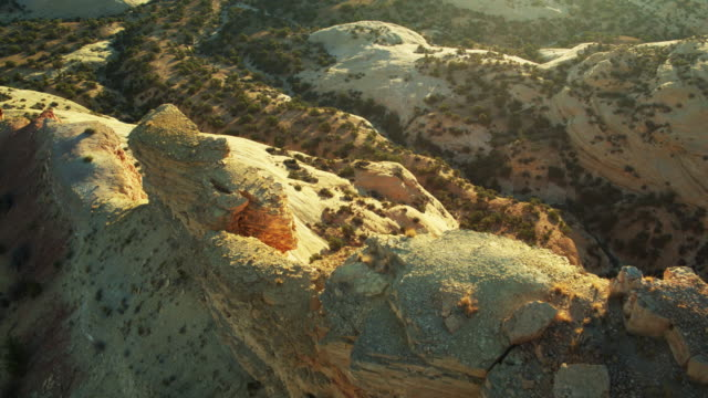 birds eye view of eagle canyon, utah - san rafael swell stock videos and b-roll footage