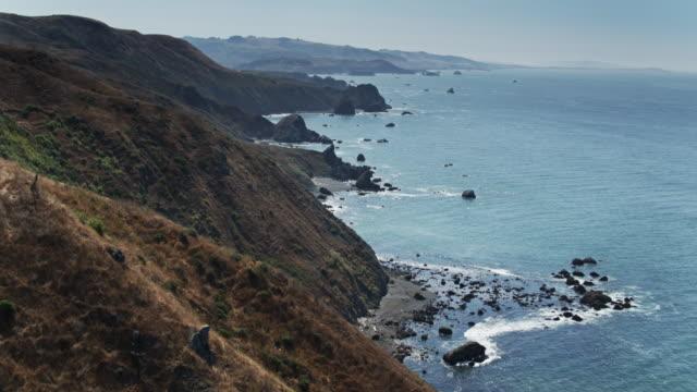 birds eye view of sonoma coast - coastline stock videos & royalty-free footage