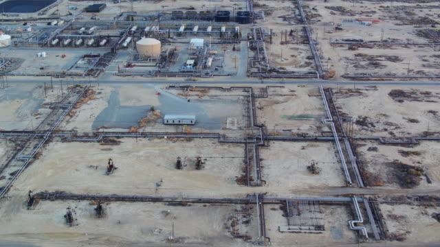 Birds Eye View of South Belridge Oil Field in Kern County, California