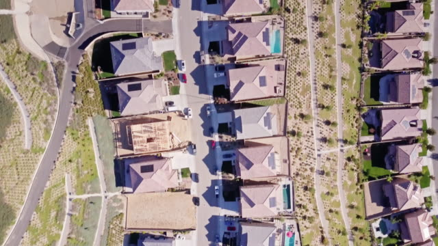 birds eye view of suburban homes under construction - santa clarita stock videos & royalty-free footage