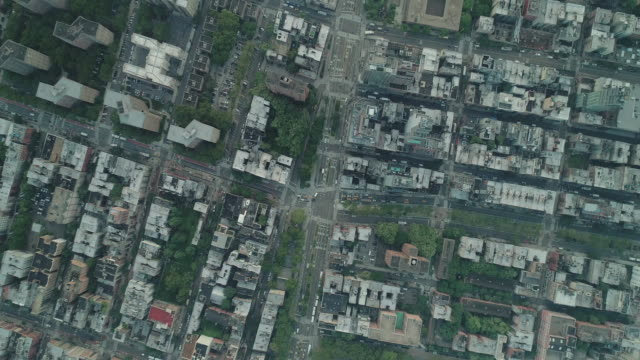 Birds eye view of the Bowery. East Village. New York. USA.