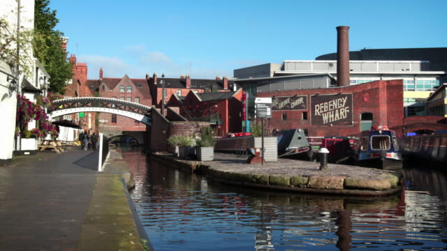 birmingham canal - birmingham england stock videos & royalty-free footage