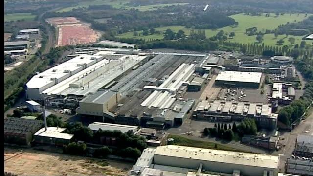 ext air view of mg rover longbridge plant - longbridge stock videos & royalty-free footage